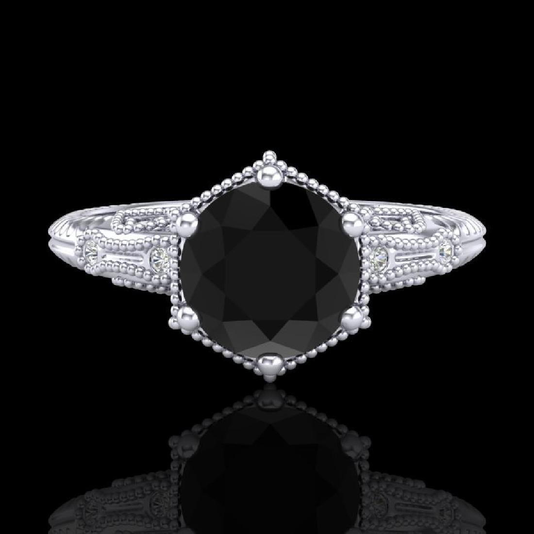 1.17 CTW Fancy Black Diamond Solitaire Engagement Art - 2