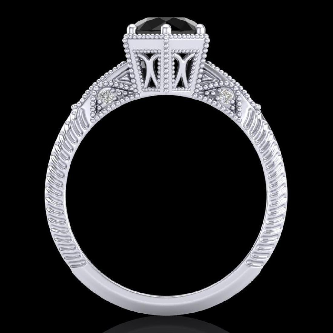 1.17 CTW Fancy Black Diamond Solitaire Engagement Art - 3