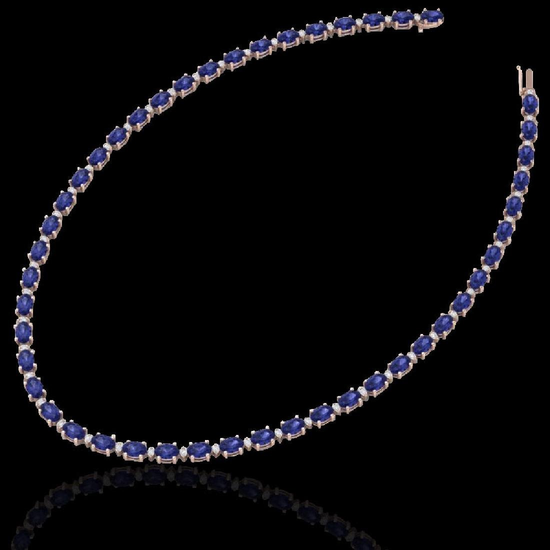 61.85 CTW Tanzanite & VS/SI Certified Diamond Eternity - 2