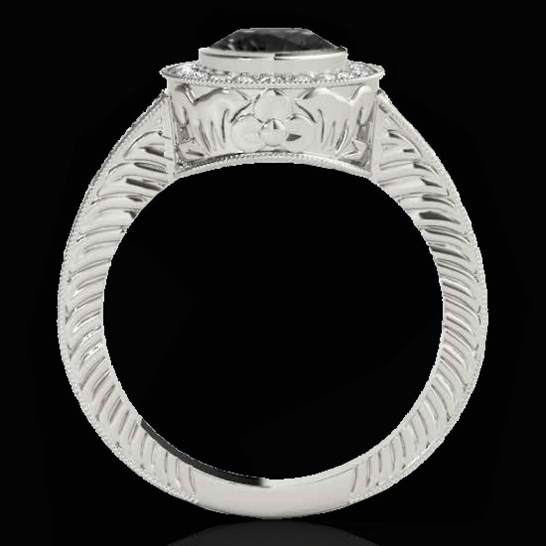 1.50 CTW Certified VS Black Diamond Solitaire Halo Ring - 2