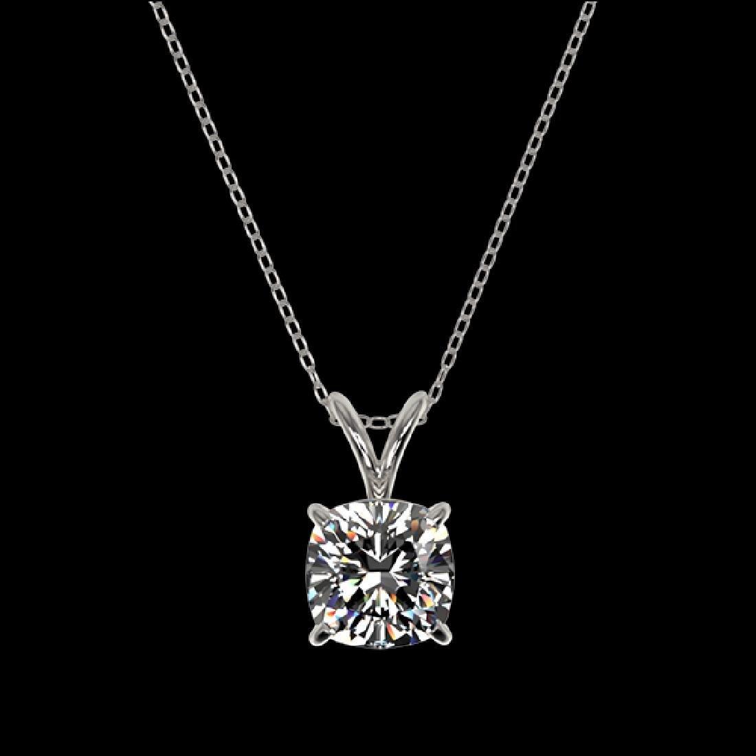 1 CTW Certified VS/SI Quality Cushion Cut Diamond - 3