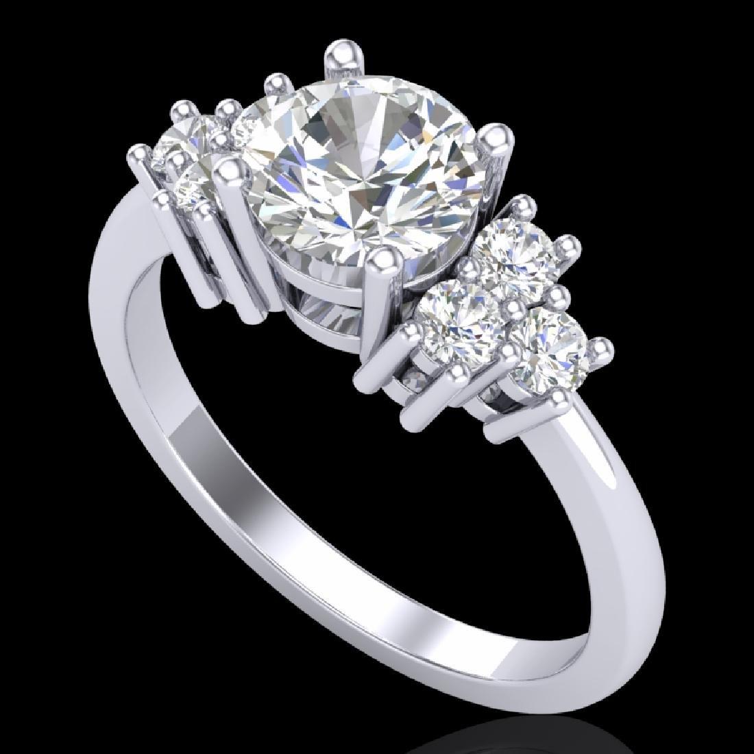 1.5 CTW VS/SI Diamond Solitaire Ring 18K White Gold
