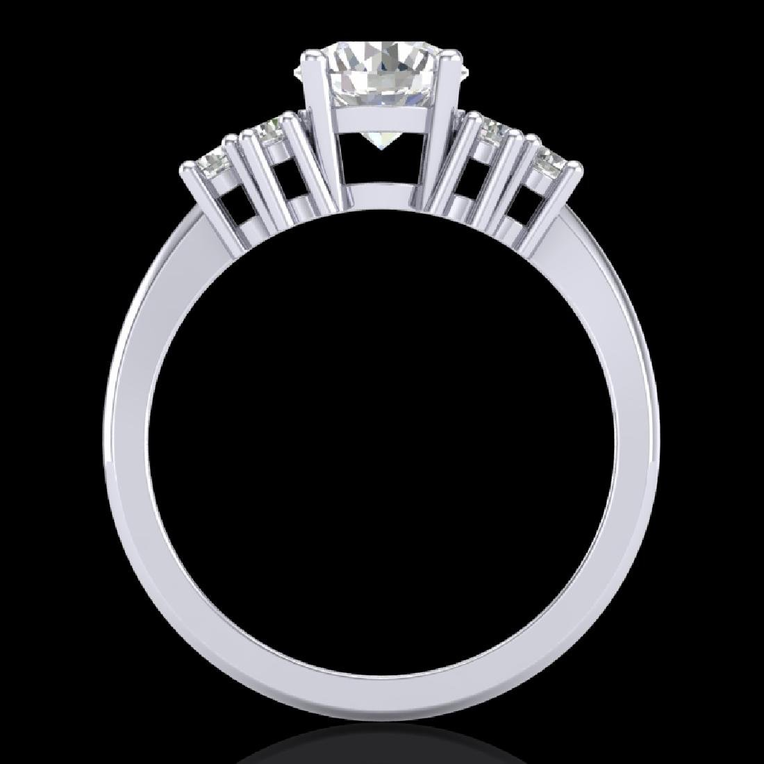 1.5 CTW VS/SI Diamond Solitaire Ring 18K White Gold - 2