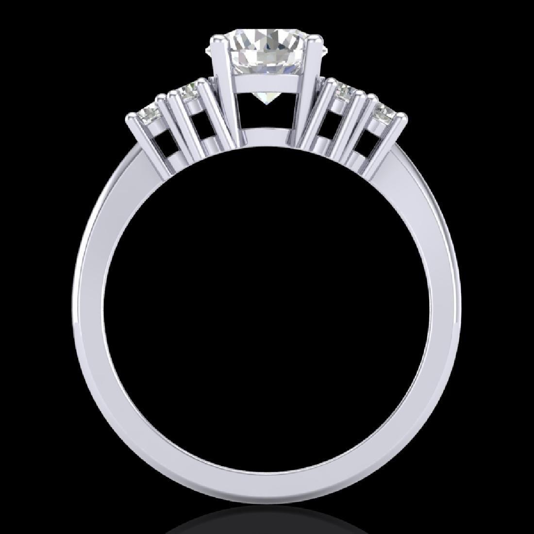 1.5 CTW VS/SI Diamond Solitaire Ring 18K White Gold - 2