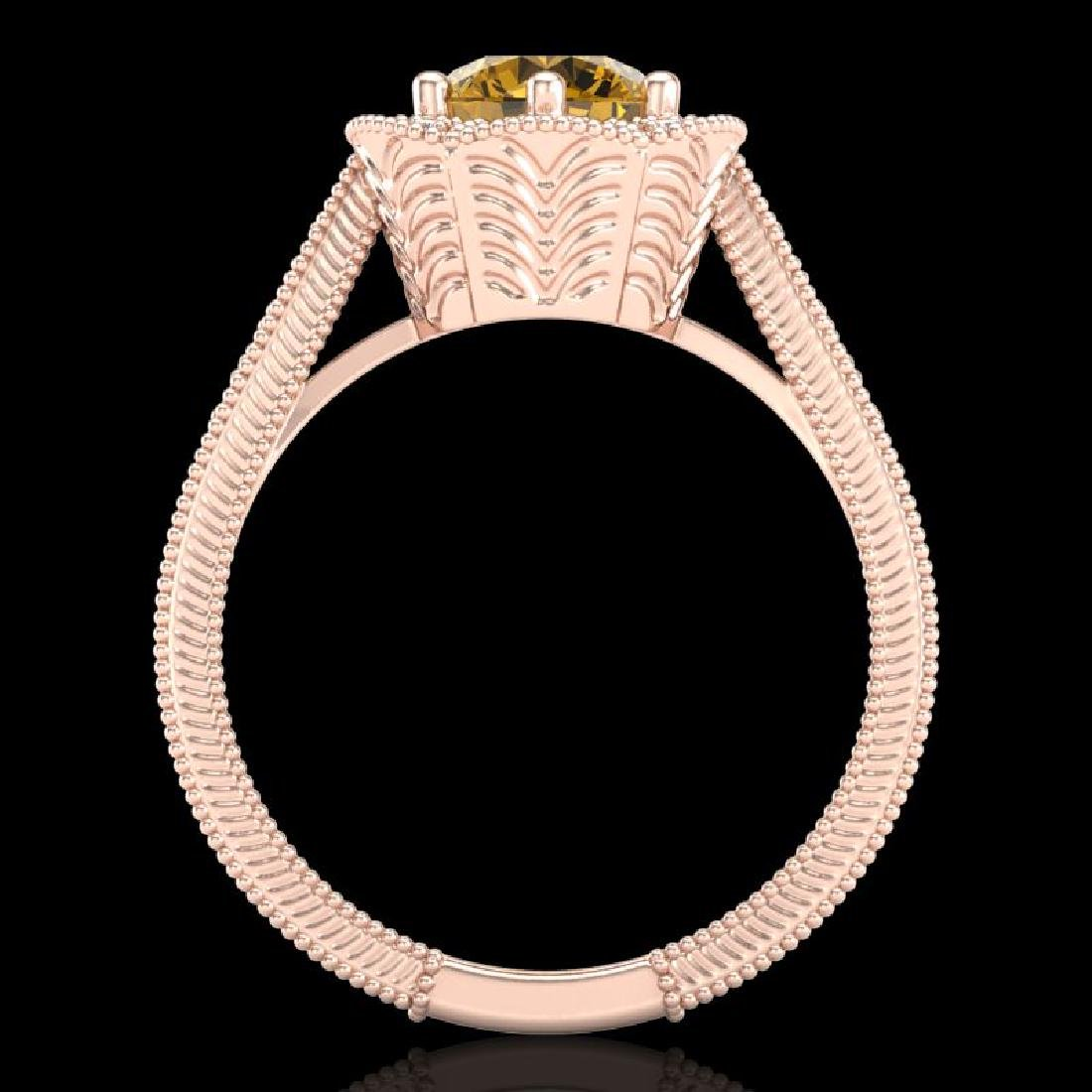1.33 CTW Intense Fancy Yellow Diamond Engagement Art - 3