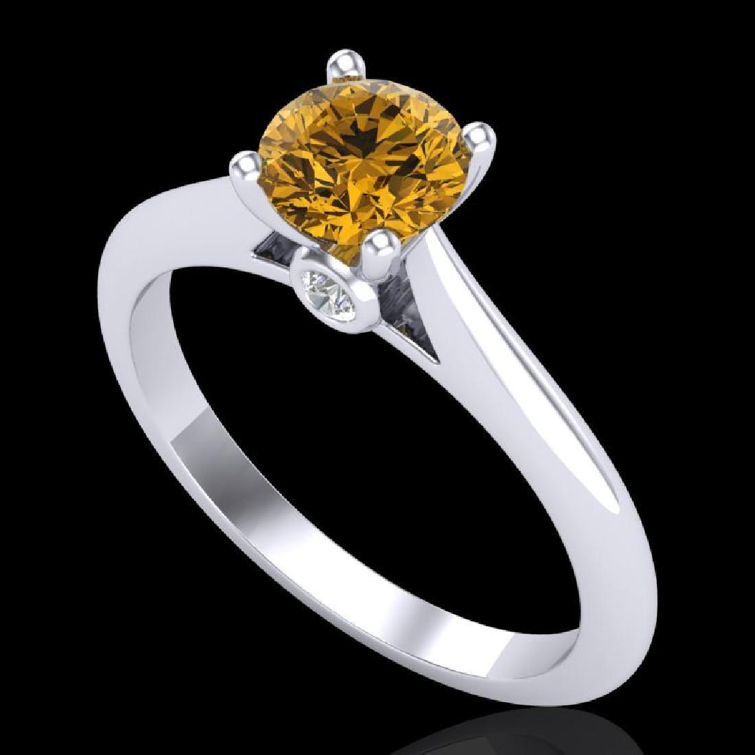 0.83 CTW Intense Fancy Yellow Diamond Engagement Art