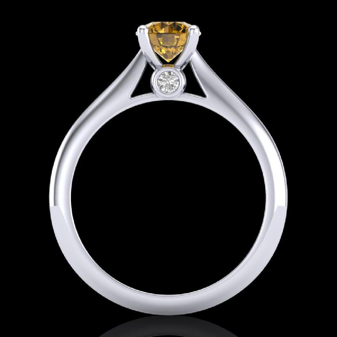 0.83 CTW Intense Fancy Yellow Diamond Engagement Art - 3