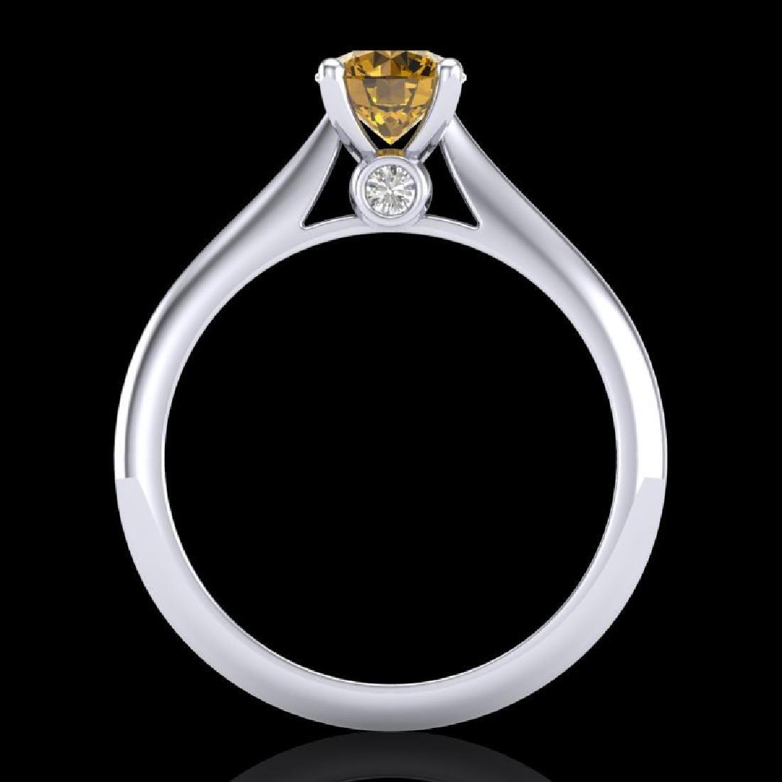 0.83 CTW Intense Fancy Yellow Diamond Engagement Art - 3