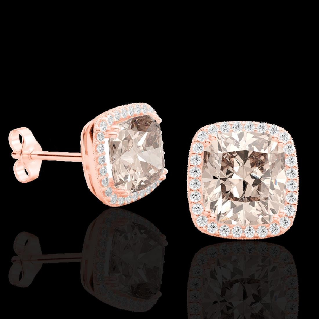 6 CTW Morganite & Micro Pave VS/SI Diamond Halo - 2