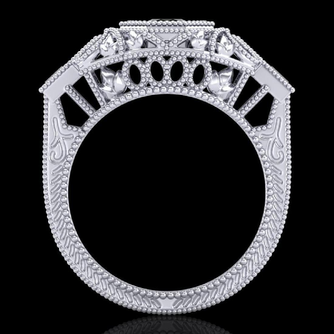 0.75 CTW Fancy Black Diamond Solitaire Engagement Art - 3