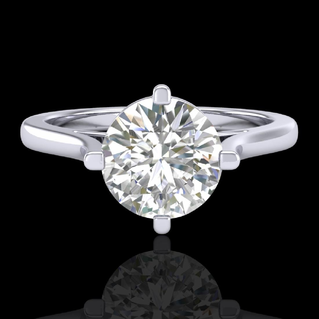 1.25 CTW VS/SI Diamond Solitaire Art Deco Ring 18K - 2