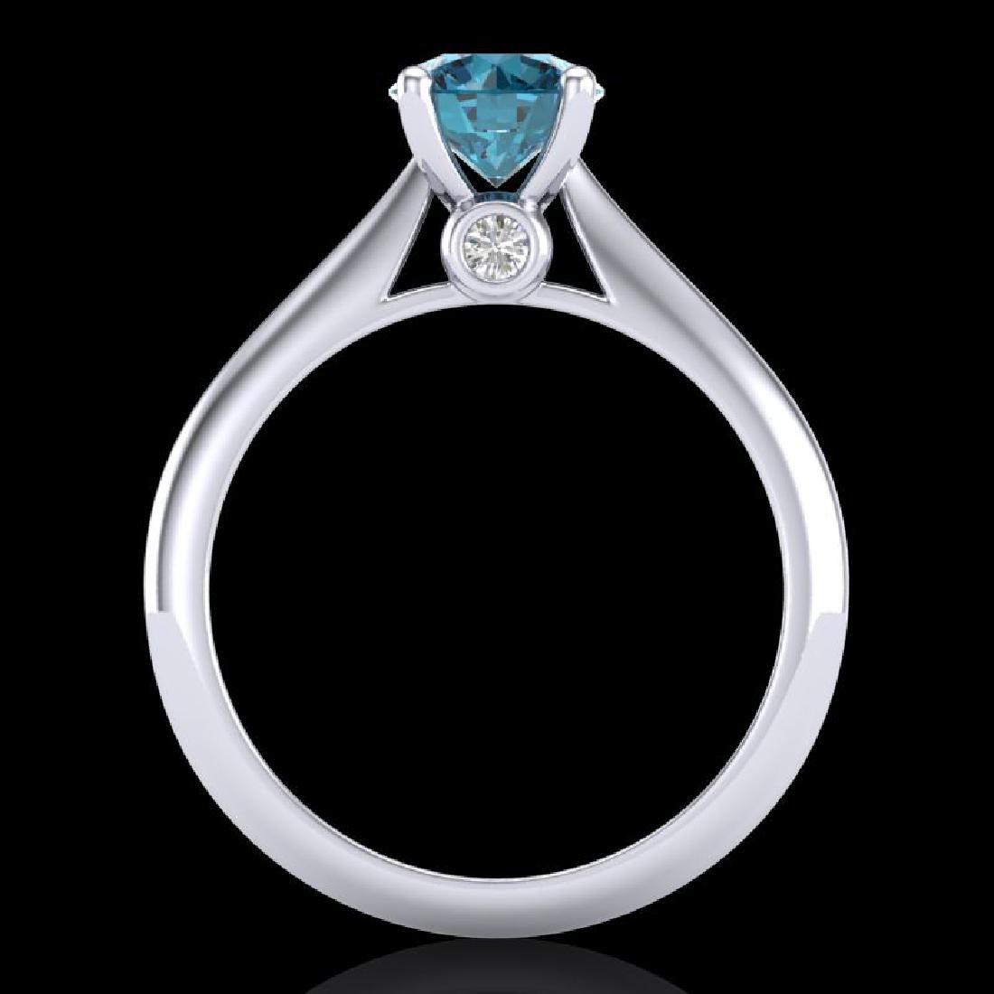 1.08 CTW Fancy Intense Blue Diamond Solitaire Art Deco - 3