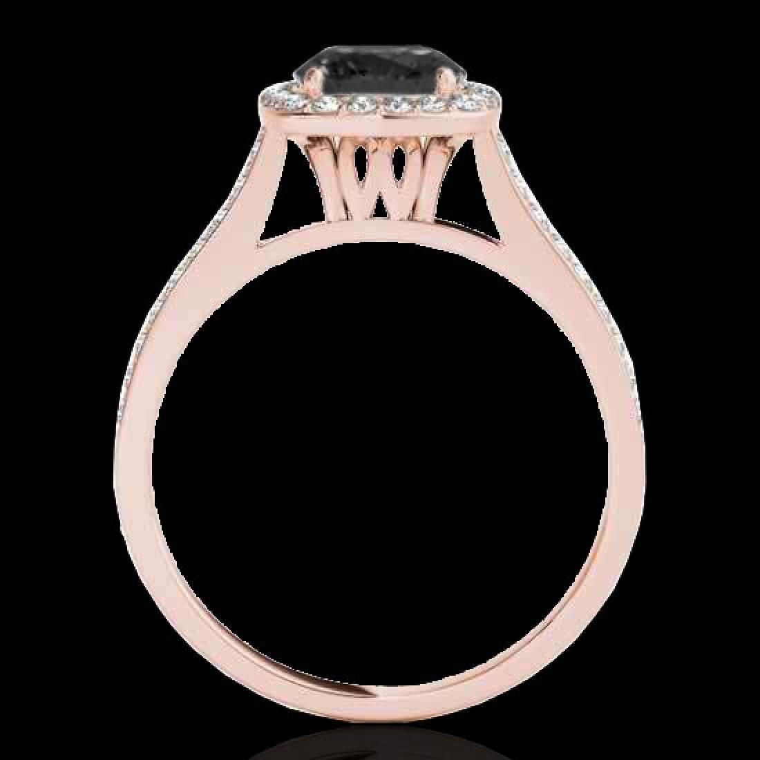 1.65 CTW Certified VS Black Diamond Solitaire Halo Ring - 2