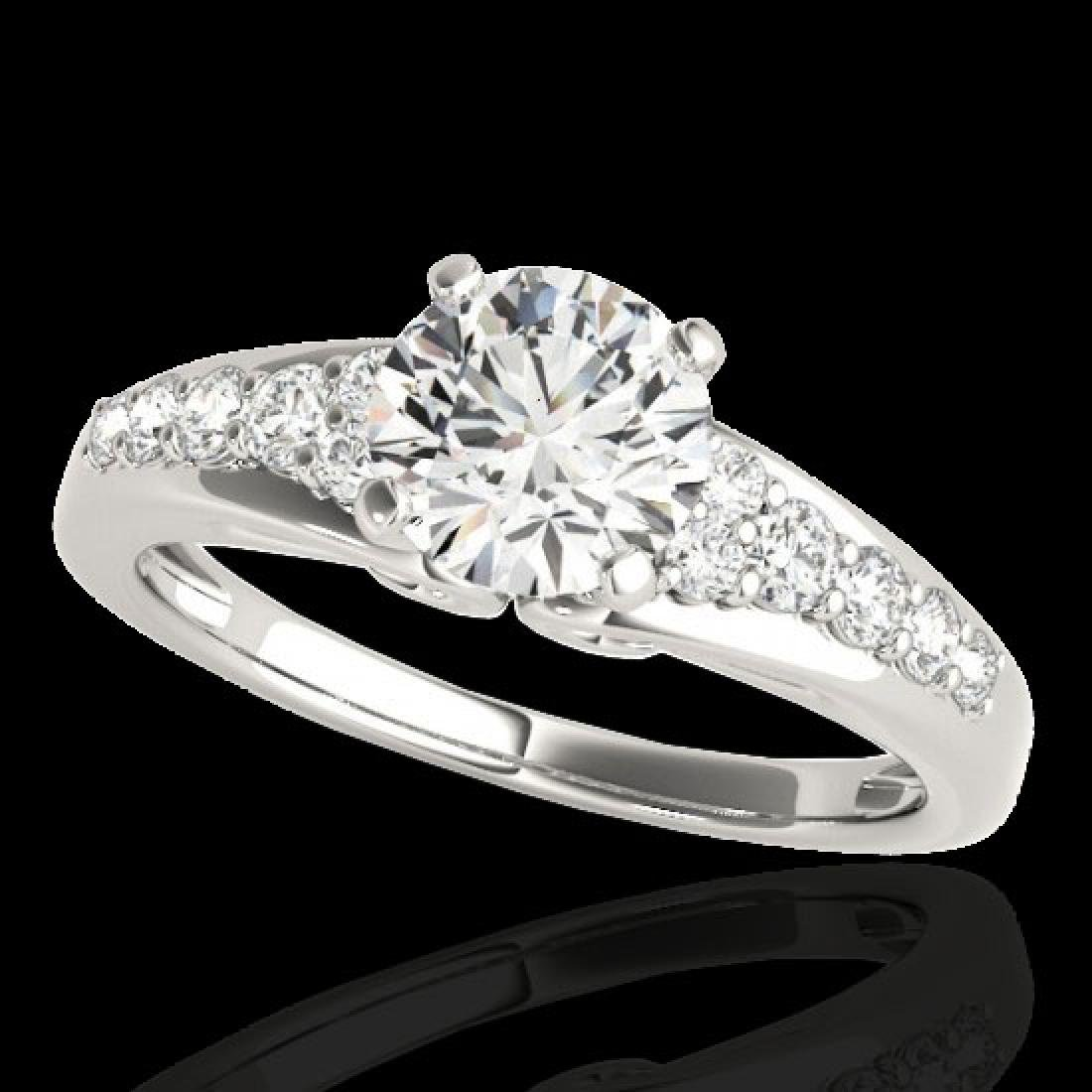1.4 CTW H-SI/I Certified Diamond Solitaire Ring 10K