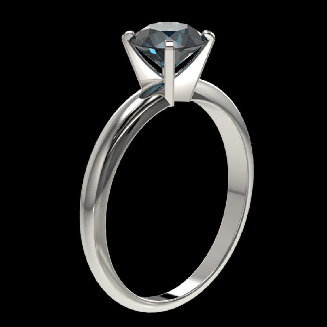 1.26 CTW Certified Intense Blue SI Diamond Solitaire - 3