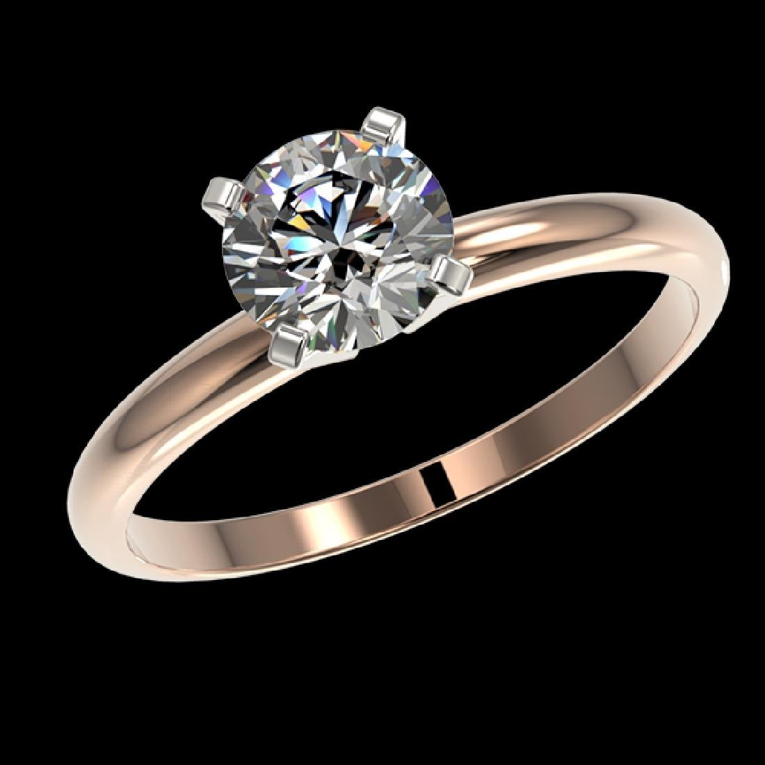 1.03 CTW Certified H-SI/I Quality Diamond Solitaire - 2