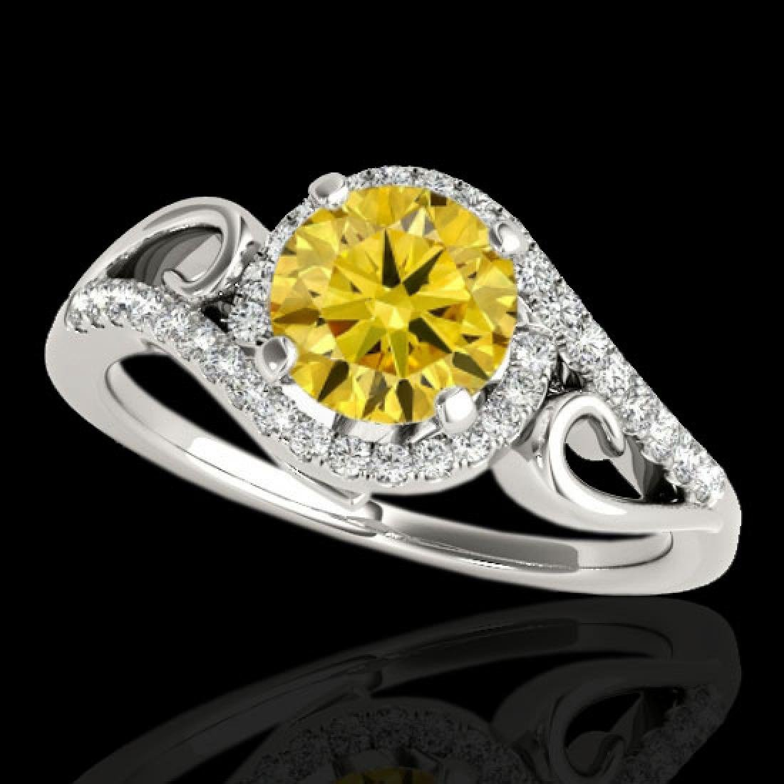 1.25 CTW Certified Si Fancy Intense Diamond Solitaire