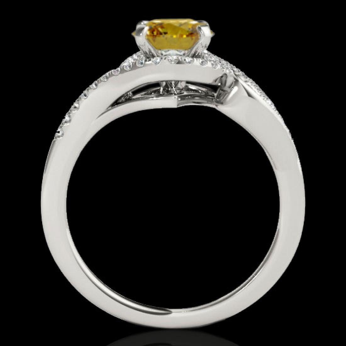 1.25 CTW Certified Si Fancy Intense Diamond Solitaire - 2