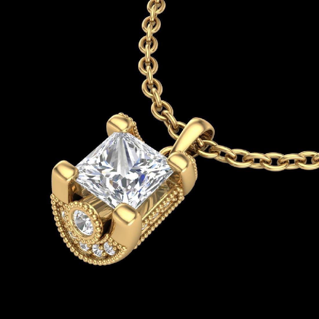 1.25 CTW Princess VS/SI Diamond Solitaire Art Deco - 2