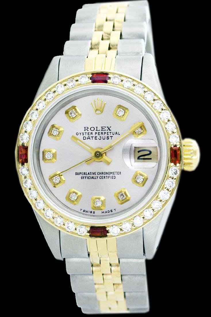 Rolex Men's Two Tone 14K Gold/SS, QuickSet, Diam Dial & - 2
