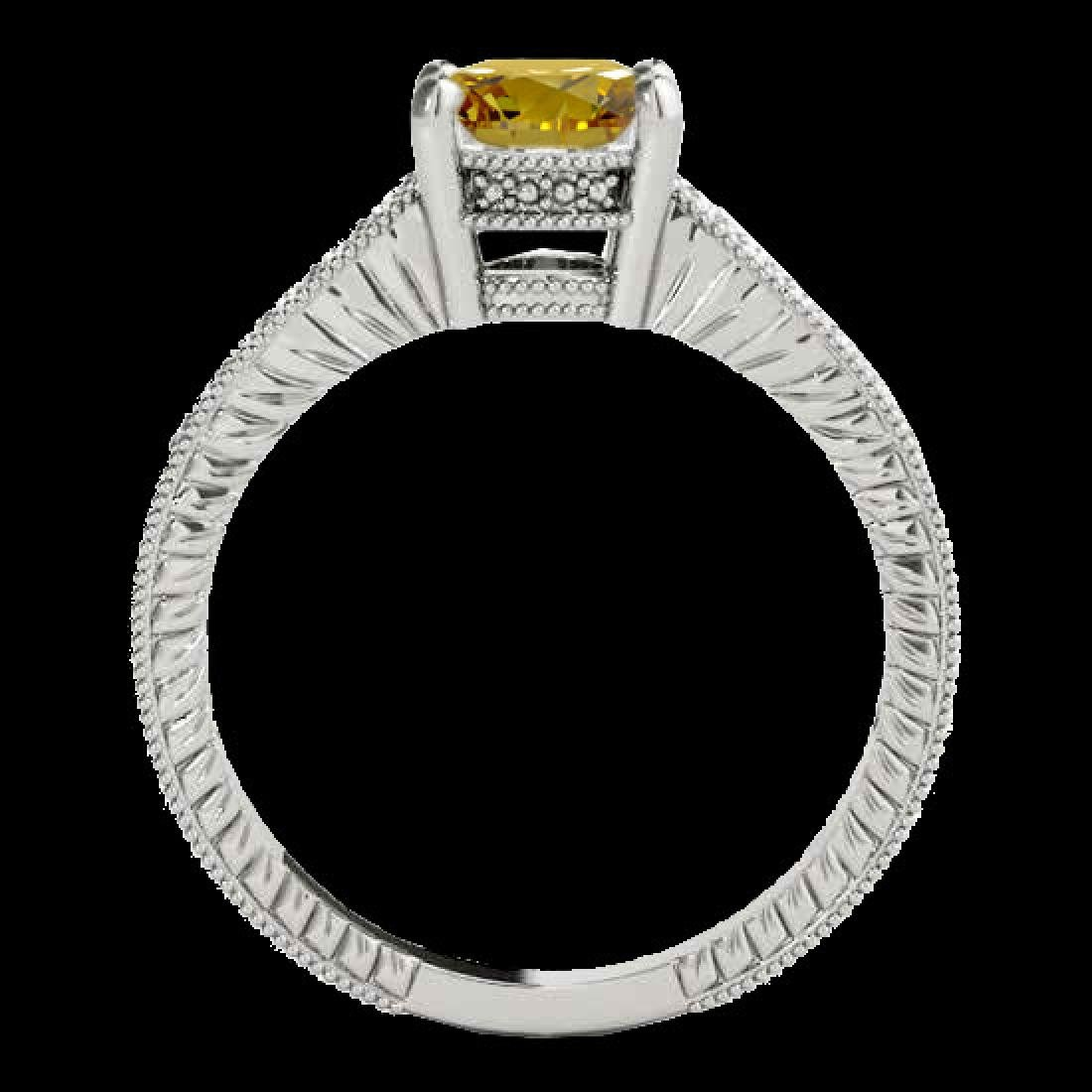 1.2 CTW Certified Si Intense Yellow Diamond Solitaire - 2