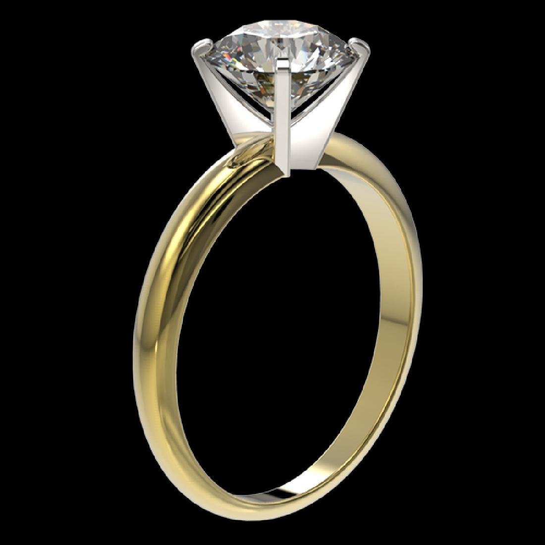 2 CTW Certified H-SI/I Quality Diamond Solitaire - 3