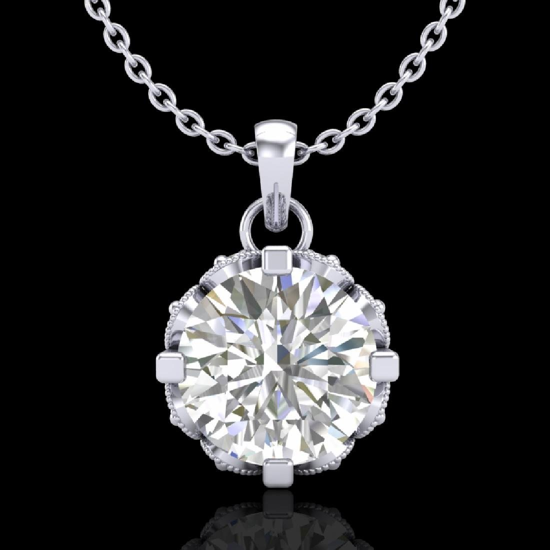 1.14 CTW VS/SI Diamond Solitaire Art Deco Stud Necklace