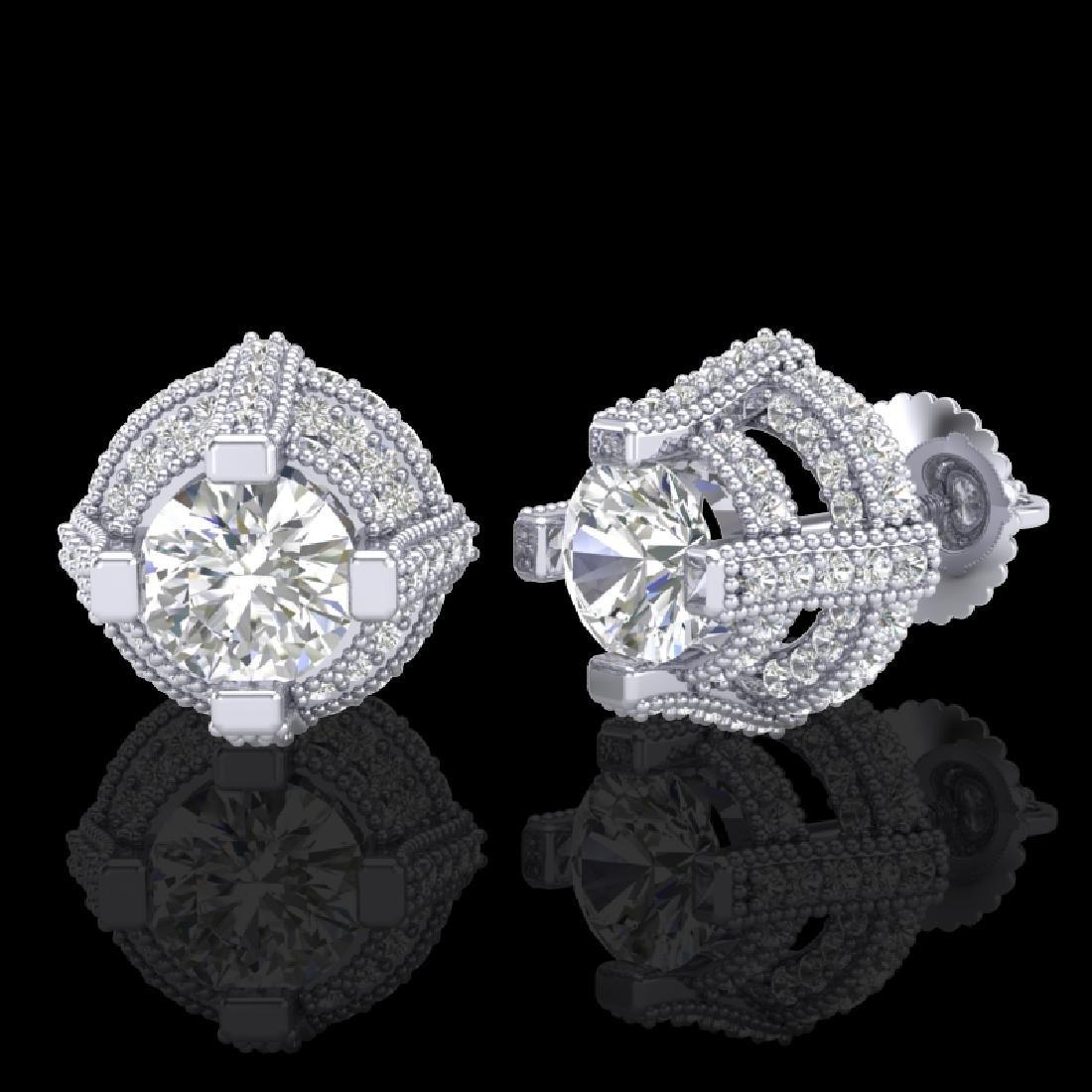 2.75 CTW VS/SI Diamond Micro Pave Stud Earrings 18K - 2