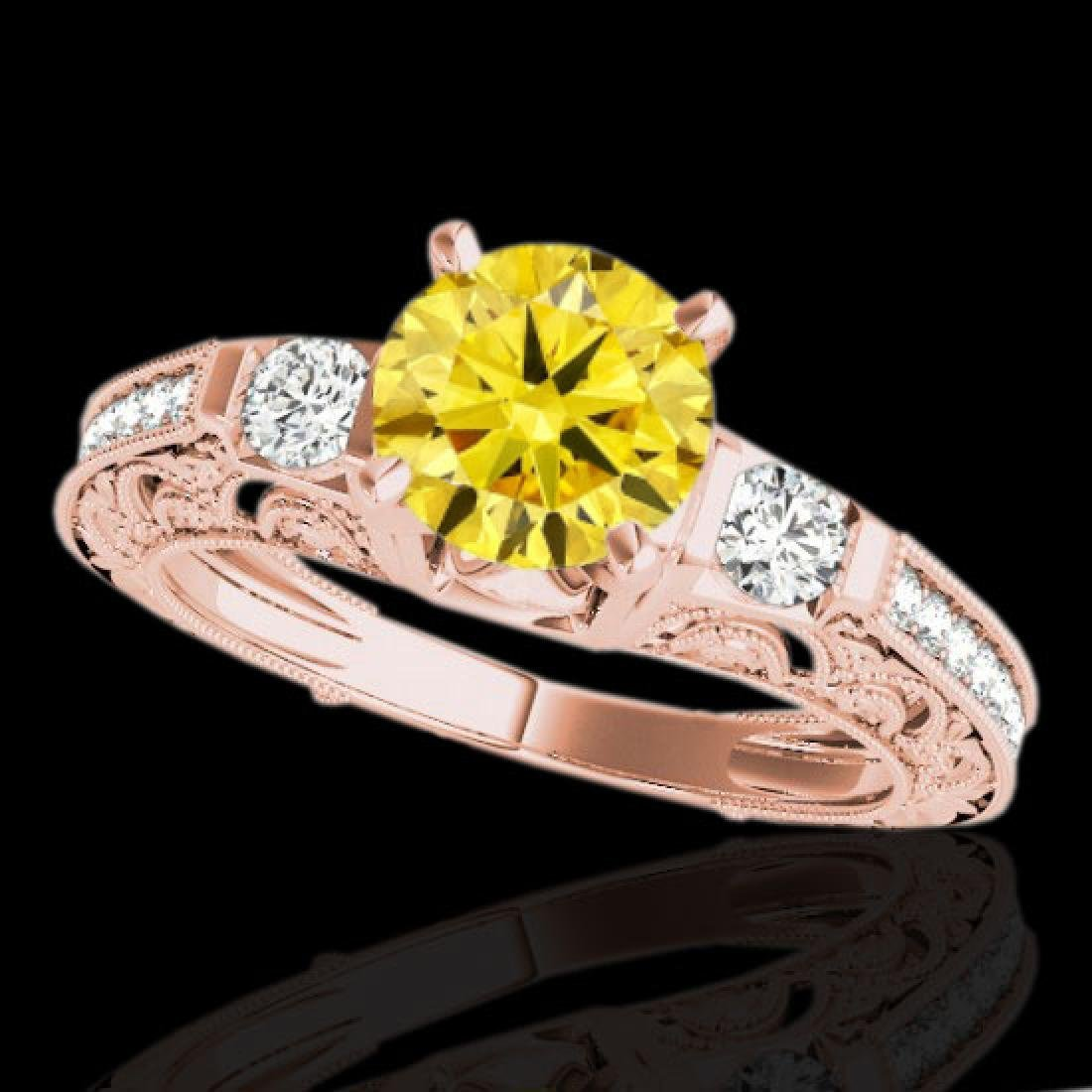 1.63 CTW Certified Si Intense Yellow Diamond Solitaire