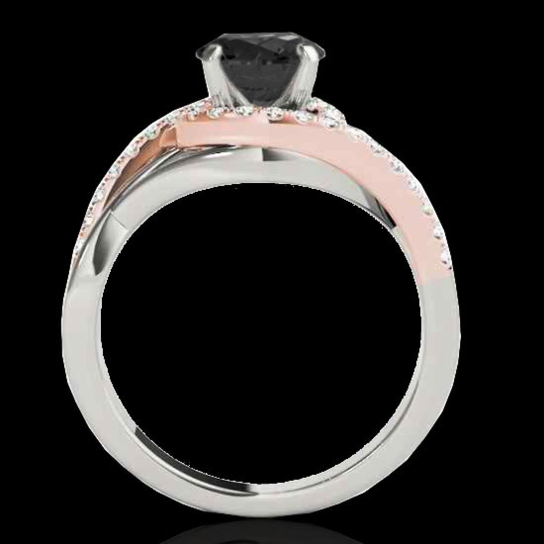 1.55 CTW Certified VS Black Diamond Bypass Solitaire - 2