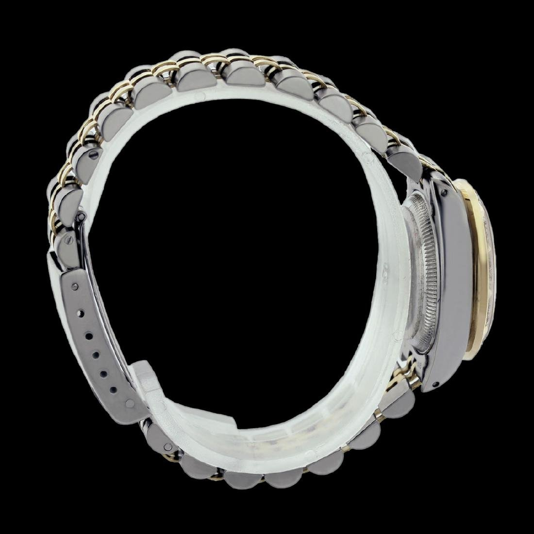 Rolex Ladies Two Tone 14K Gold/SS, Diam/Emerald Dial & - 3