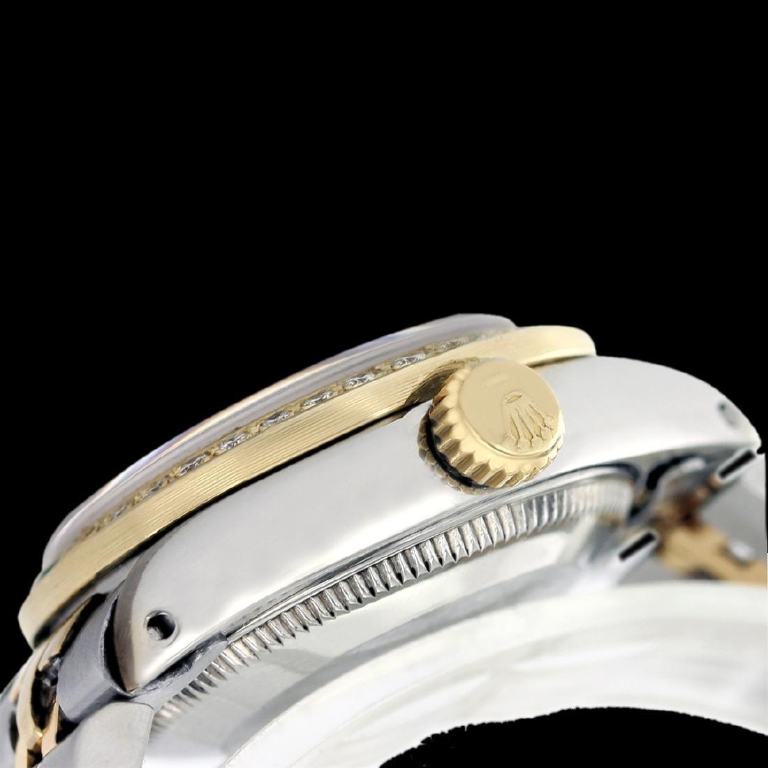 Rolex Ladies Two Tone 14K Gold/SS, Diam/Emerald Dial & - 4