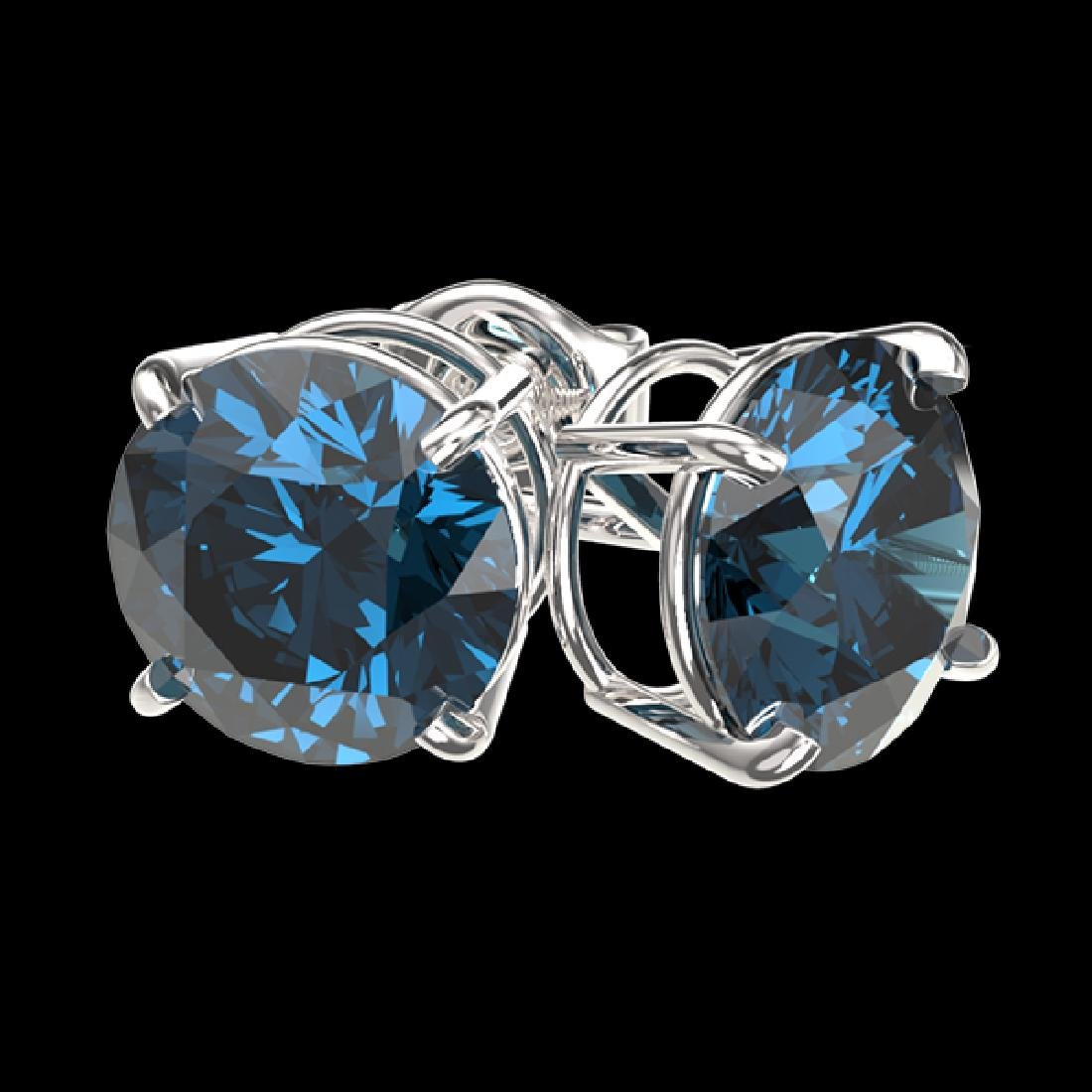 2.50 CTW Certified Intense Blue SI Diamond Solitaire - 3