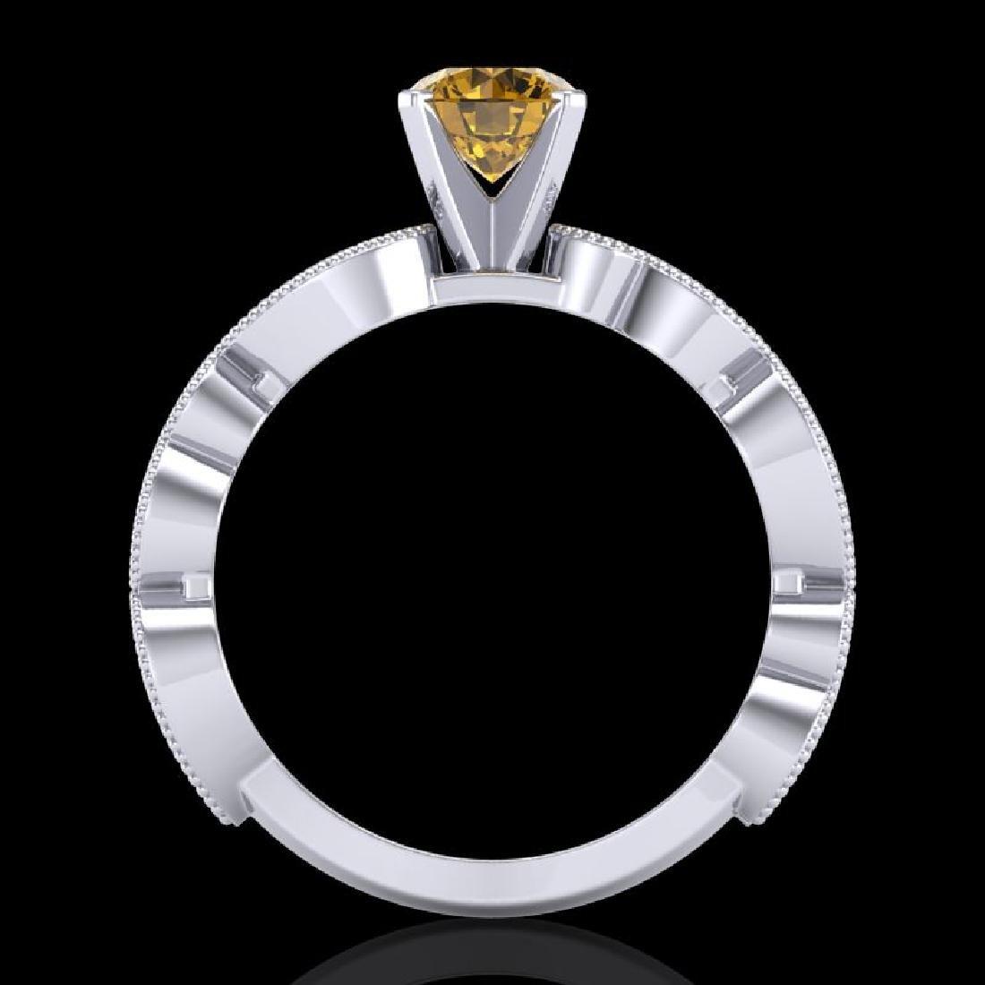 1.01 CTW Intense Fancy Yellow Diamond Engagement Art - 3