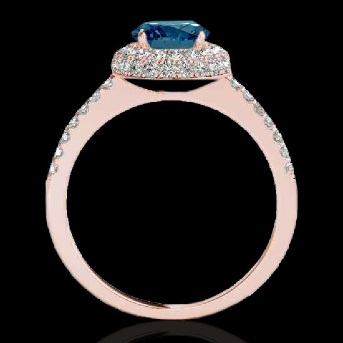 2.15 CTW SI Certified Fancy Blue Diamond Solitaire Halo - 2