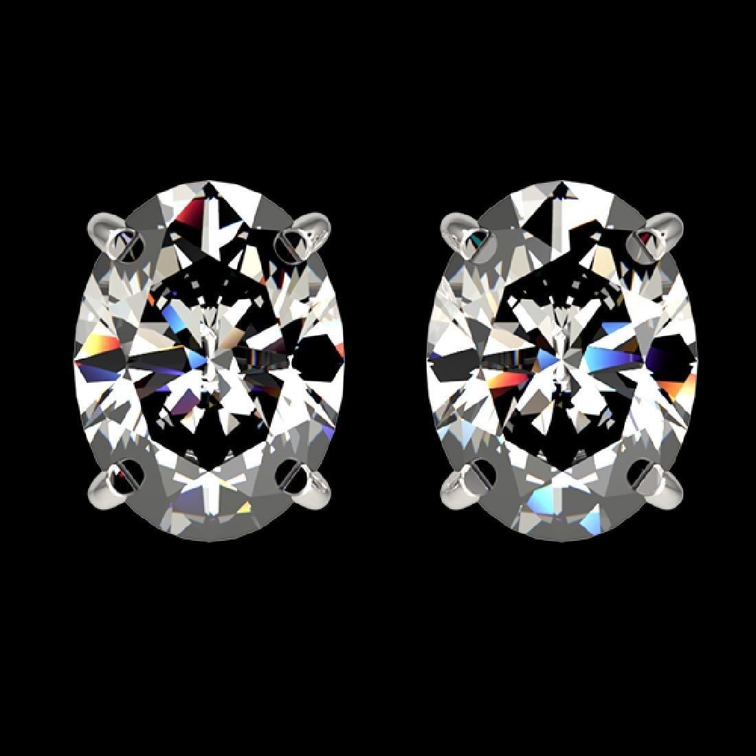 2.50 CTW Certified VS/SI Quality Oval Diamond Stud