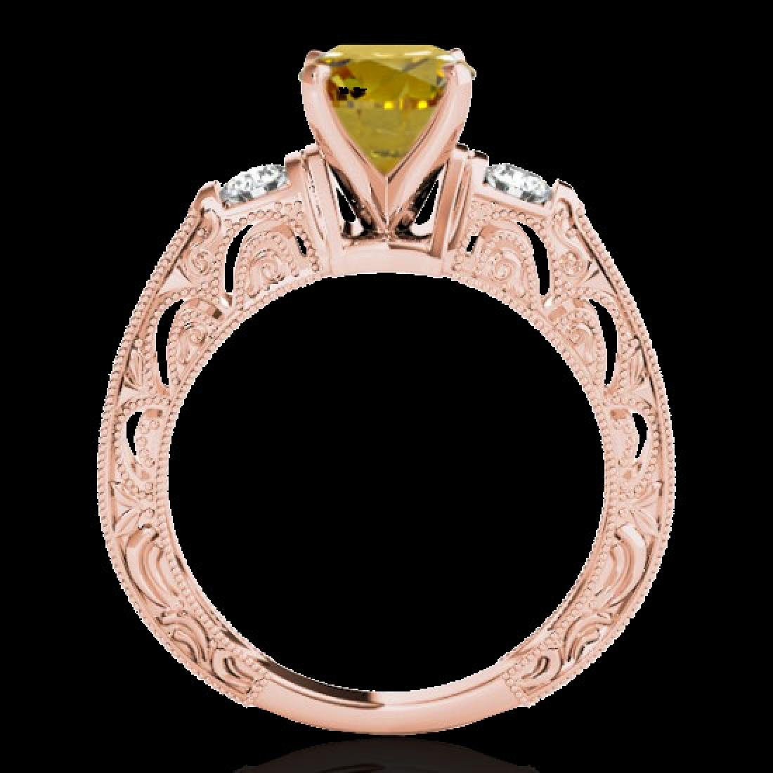 1.38 CTW Certified Si Intense Yellow Diamond Solitaire - 2