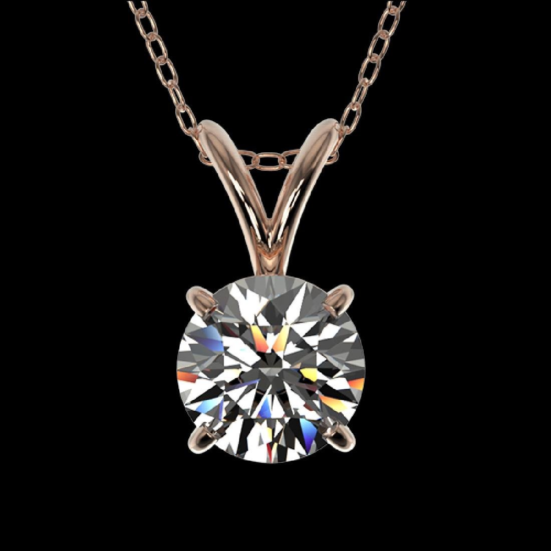 0.72 CTW Certified H-SI/I Quality Diamond Solitaire