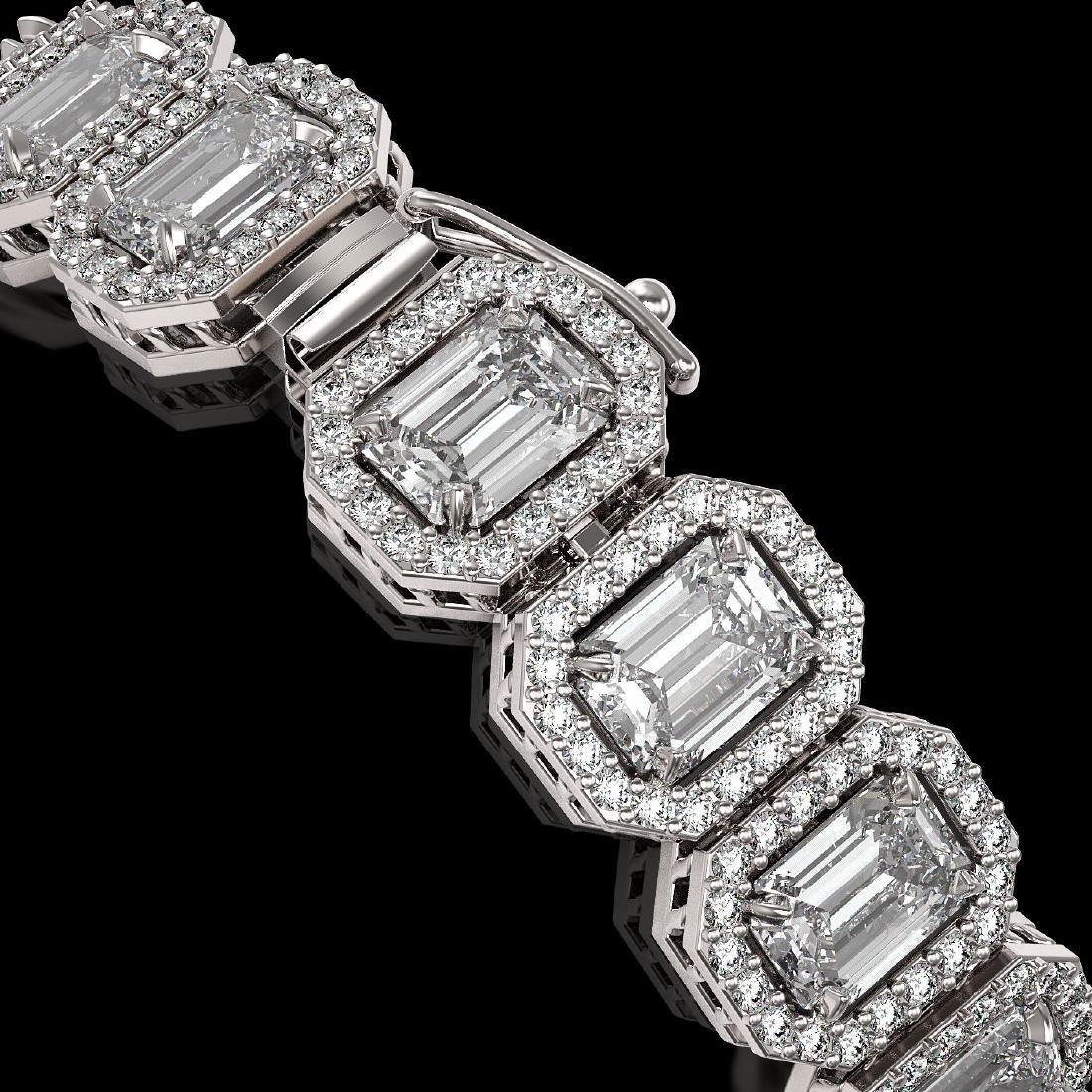 17.28 CTW Emerald Cut Diamond Designer Bracelet 18K - 3