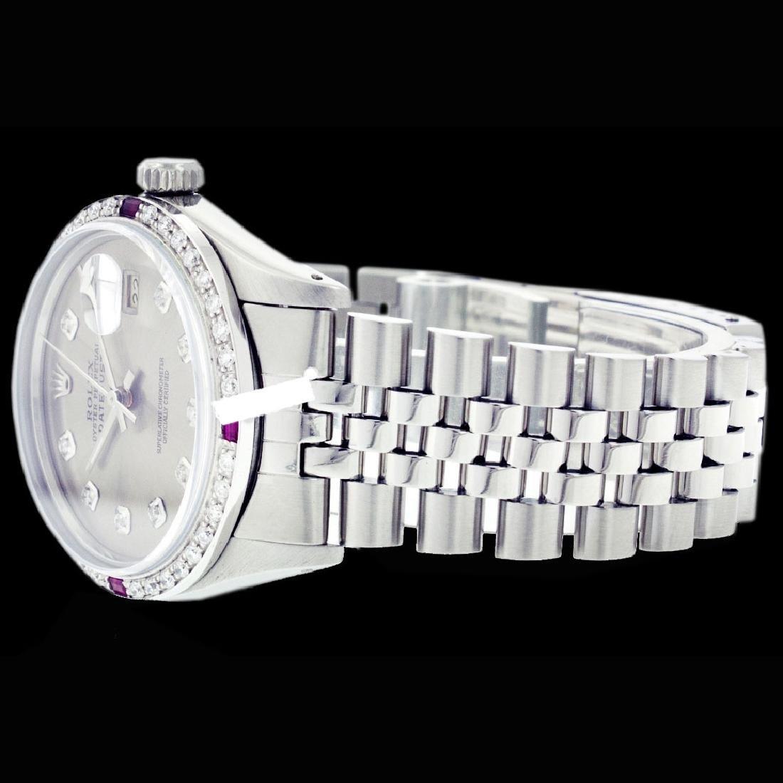 Rolex Men's Stainless Steel, QuickSet, Diam Dial & - 4