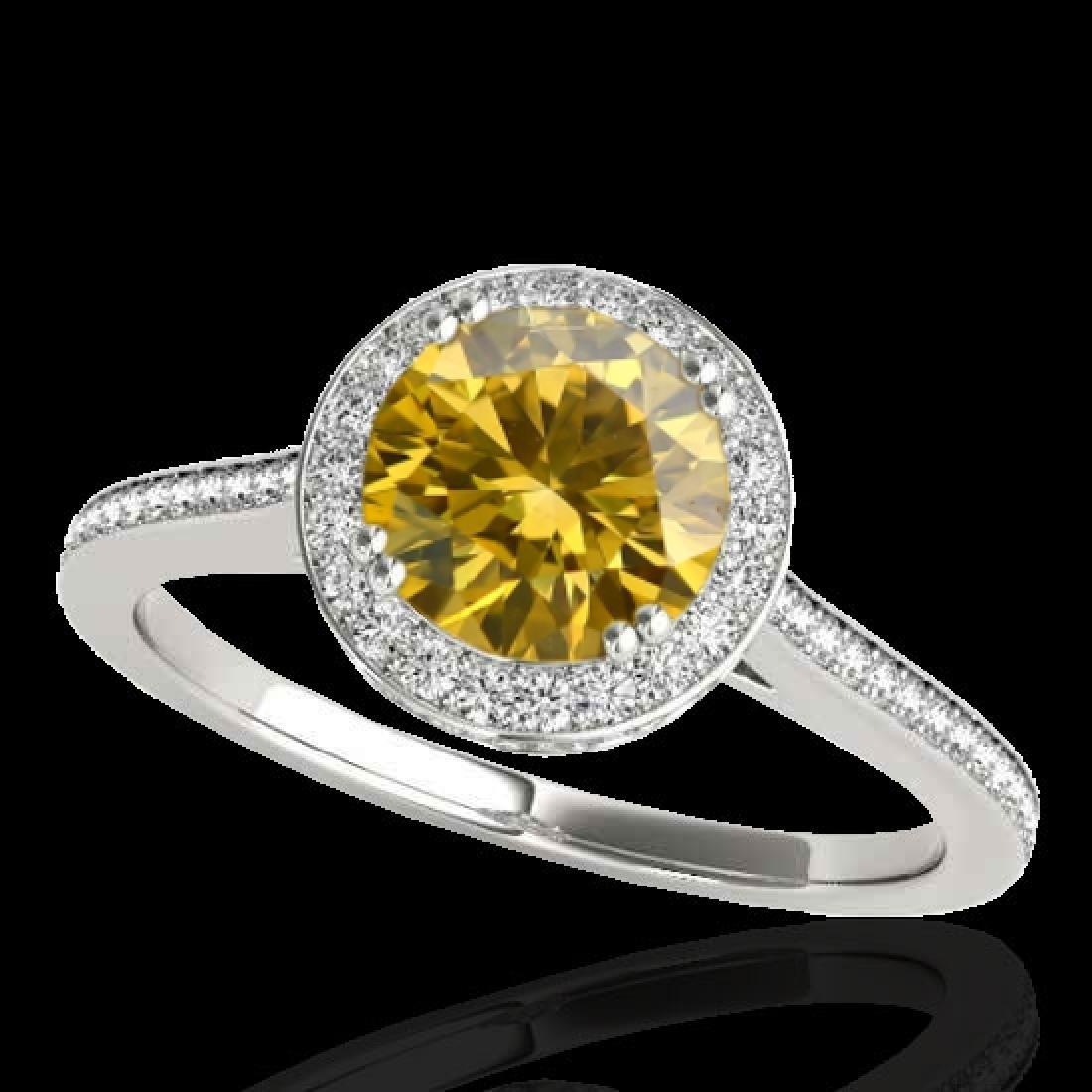 2.03 CTW Certified SI/I Fancy Intense Yellow Diamond