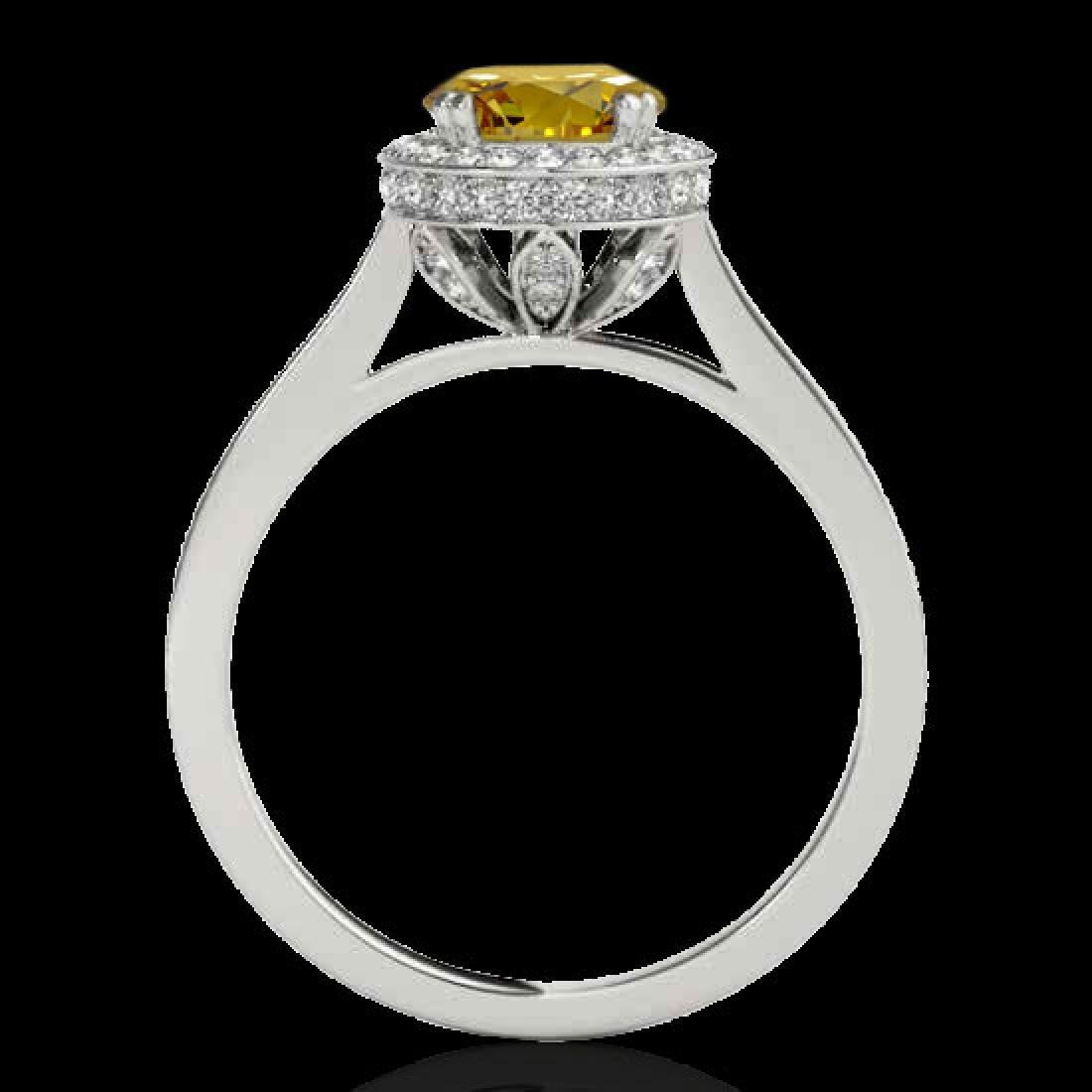 2.03 CTW Certified SI/I Fancy Intense Yellow Diamond - 2
