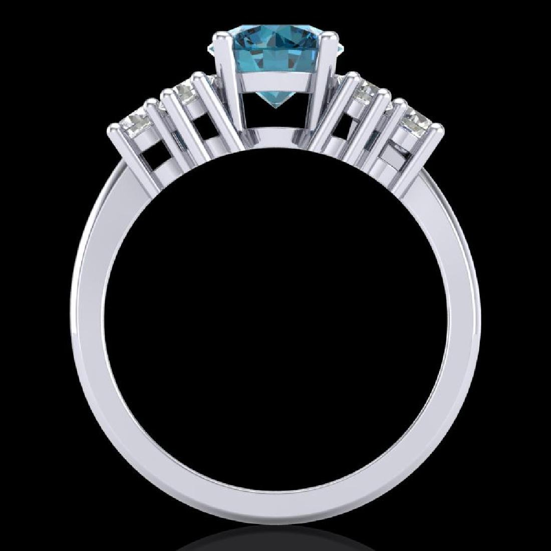 2.1 CTW Intense Blue Diamond Solitaire Engagement - 3
