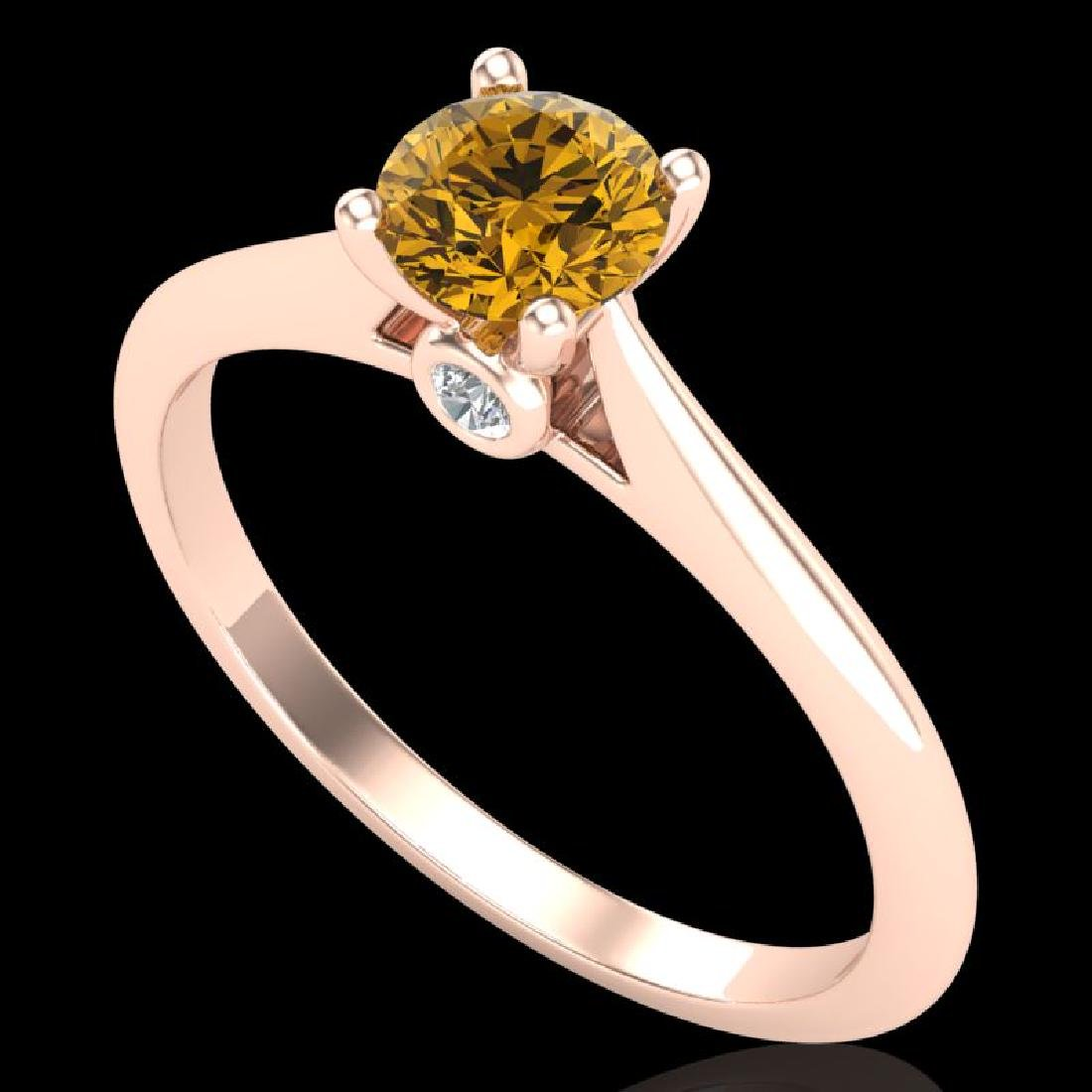 0.56 CTW Intense Fancy Yellow Diamond Engagement Art