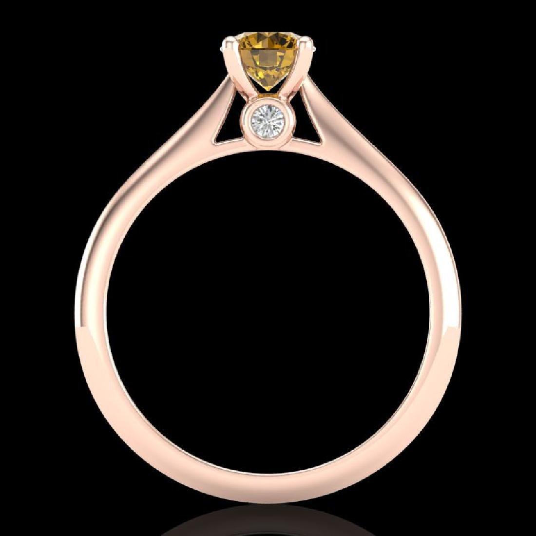 0.56 CTW Intense Fancy Yellow Diamond Engagement Art - 3