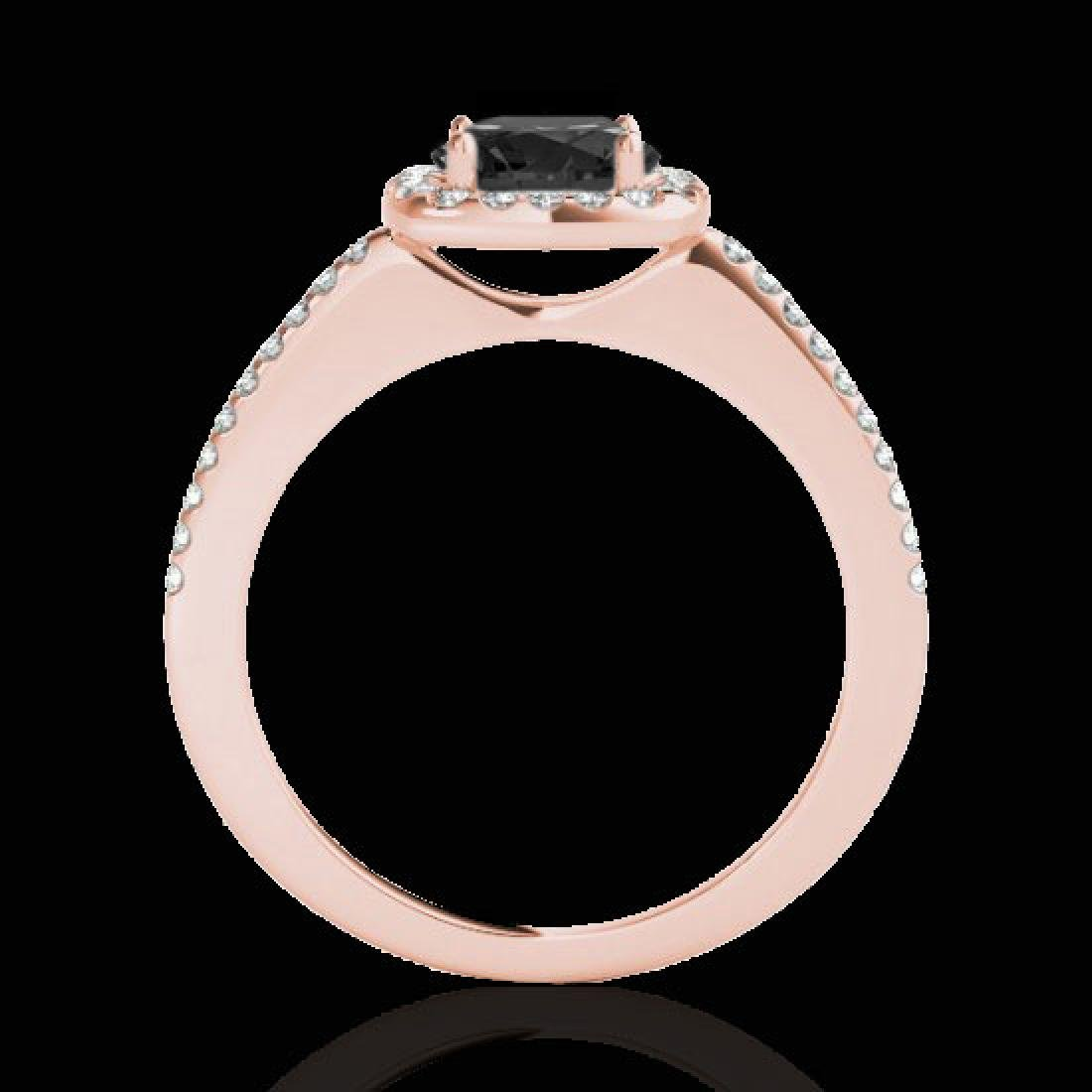 1.25 CTW Certified VS Black Diamond Solitaire Halo Ring - 2