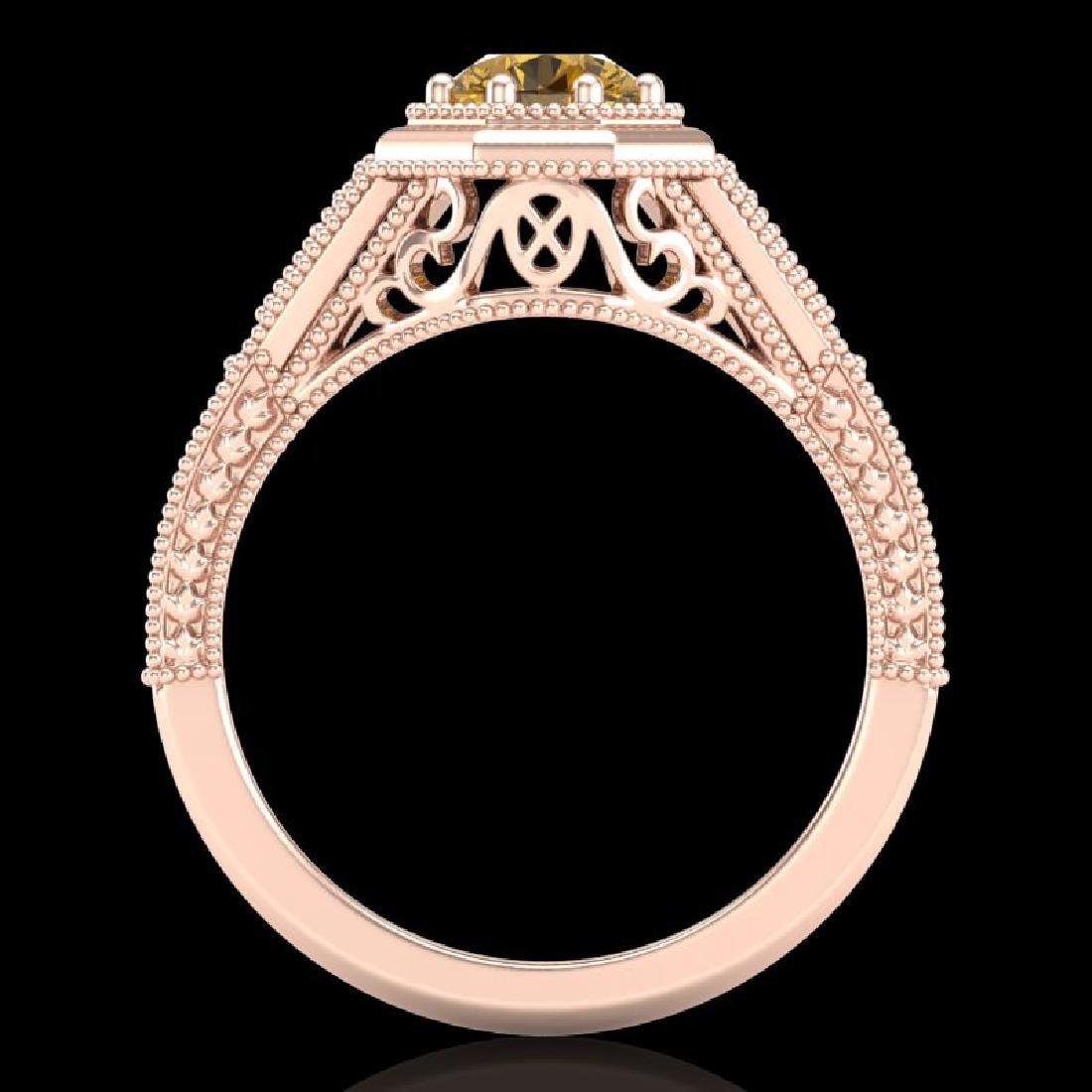 0.84 CTW Intense Fancy Yellow Diamond Engagement Art - 3