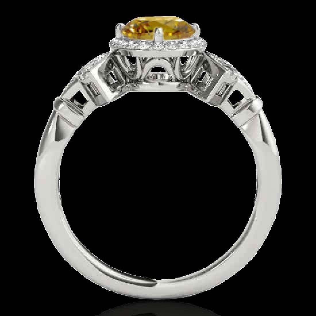 1.56 CTW Certified SI/I Fancy Intense Yellow Diamond - 2