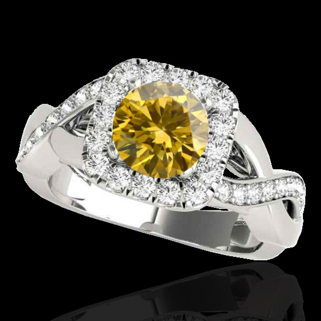 1.65 CTW Certified SI/I Fancy Intense Yellow Diamond