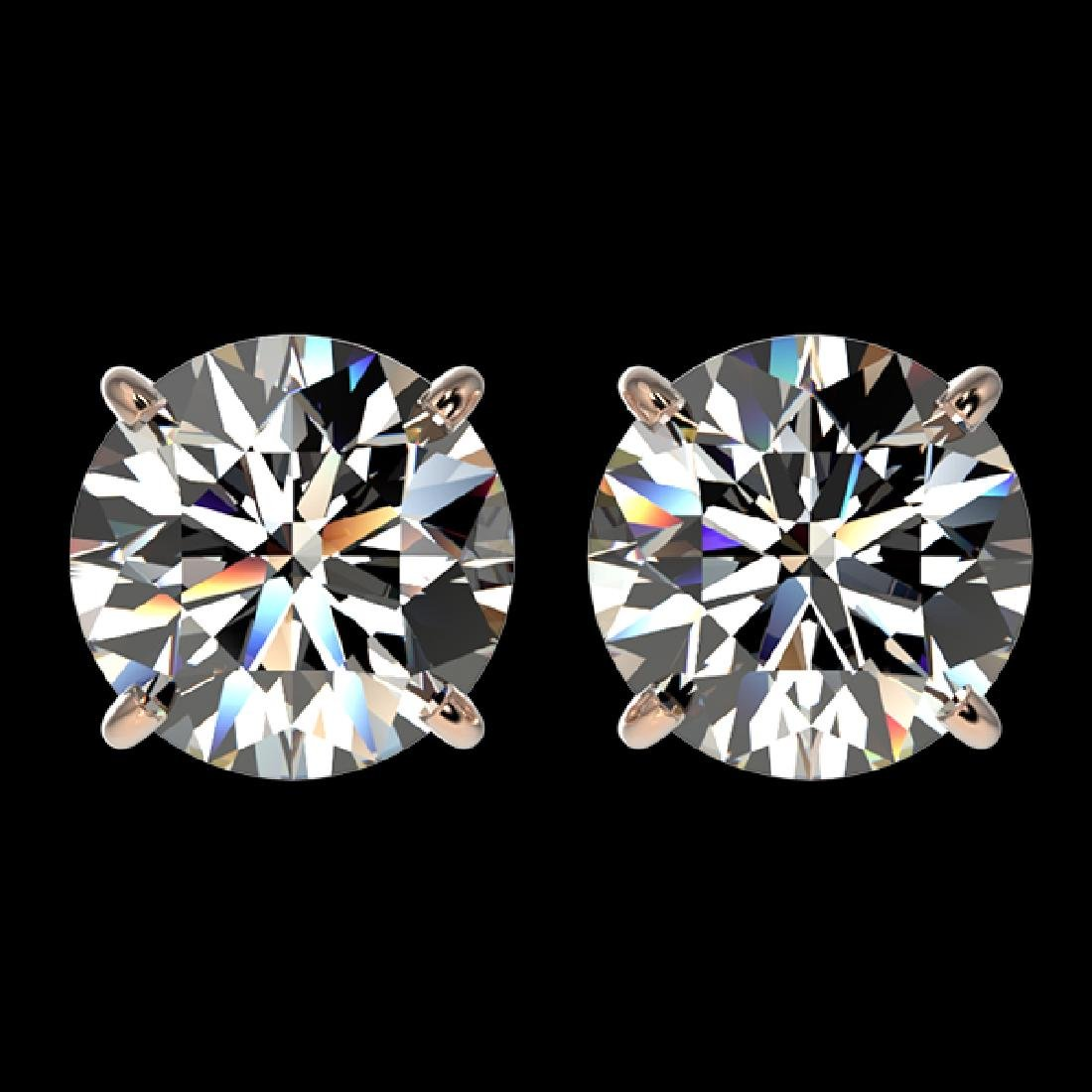 3.05 CTW Certified H-I Quality Diamond Solitaire Stud